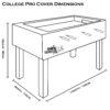 51006 College Pro Cover Blue_Dimensions